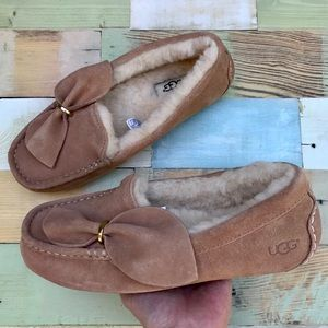 UGG Ansley Twist Shearling Lined Moccasin Slippers